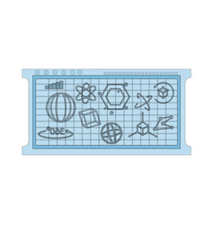 mathematical calculations on blue board icon image vector image