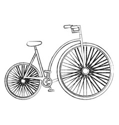 Antique bicycle isolated icon vector