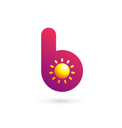 letter b sun logo icon design template elements vector image