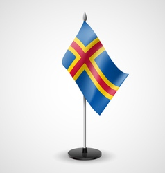 Table flag of Aland Islands vector image