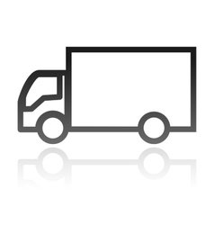 Simple icon of a truck transportation concept vector