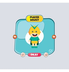 Hero character option game assets element vector