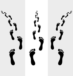 Footsteps vector