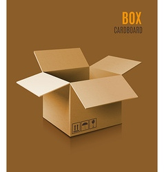 Cardboard box icon vector