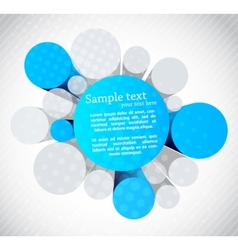 Background with 3d circles vector