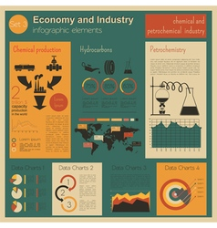 Economy and industry chemical and petrochemical vector