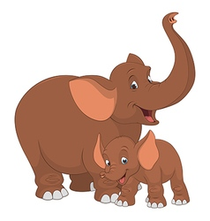 Elephant with cub vector