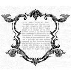 Elegance vintage frame for your text vector image