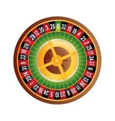 Roulette icon casino design graphic vector