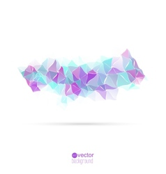 Abstract background with triangles and polygon vector image