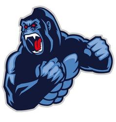 angry big gorilla vector image vector image