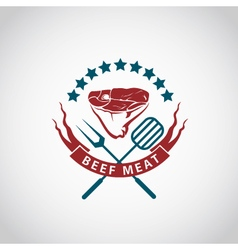 beef meat icon vector image vector image