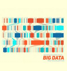 Big data colorful visualization vector