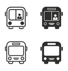 bus icon set vector image vector image
