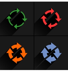 Color arrow reload refresh rotation repeat icon vector