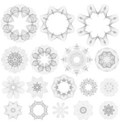 Creative rosettes collection vector