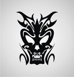 Demon Head Tribal vector image vector image