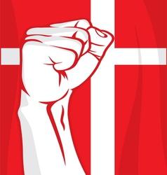 Denmark fist vector image