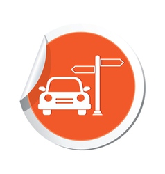 Direct car orange label vector