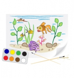 drawing aquarium vector image vector image