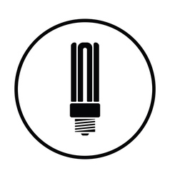 Energy saving light bulb icon vector image