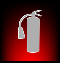 fire extinguisher sign postage stamp or old photo vector image