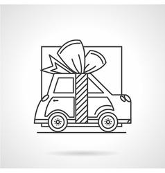 Gift car line icon vector