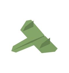 Green paper plane business symbol start vector