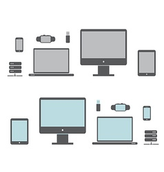 icons of the electronics vector image vector image