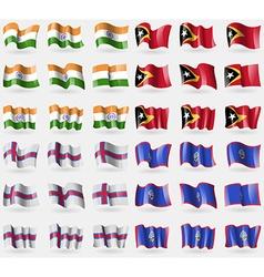India east timor faroe islands guam set of 36 vector