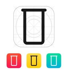 Lab flask icon vector