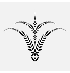 Laurel wreath tattoo bowl view ornament with vector