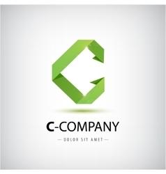 Letter c logo alphabet logotype design vector