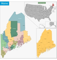 Maine map vector