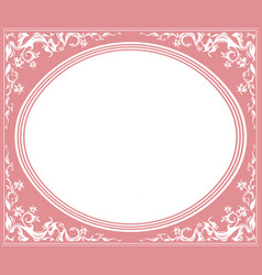 Oval frame with elegant ornament vector