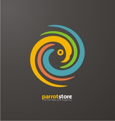 Parrot abstract logo design template vector
