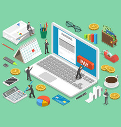 Payroll flat isometric concept vector