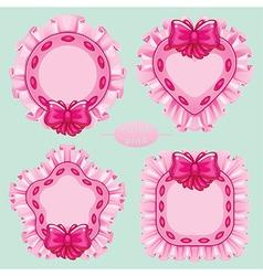pillow pink set vector image
