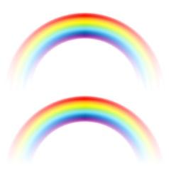 rainbow arc white vector image vector image