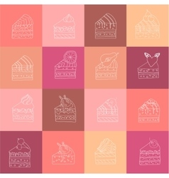 Seamless contour pattern with different kinds of vector image