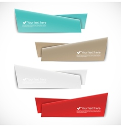 Set of abstract banners vector