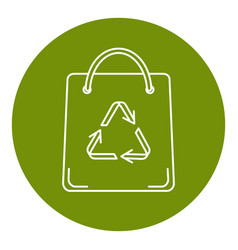 shopping bag icon in thin line style vector image