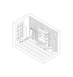 Storeroom line drawing vector