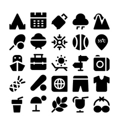 Summer icons 6 vector image