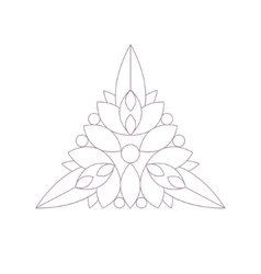 Triangle shape doodle ornamental figure in vector