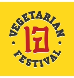 Vegetarian festival jay food sign vector