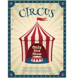 Vintage circus poster vector image vector image