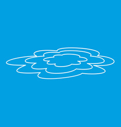 water puddle icon outline style vector image vector image