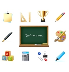 Back to school with education icons vector