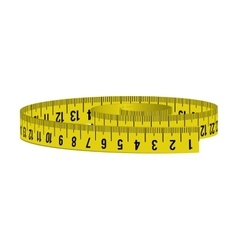 Meter yellow tape measure tool icon vector